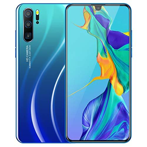 HSKB P36 Pro Smartphone ohne Vertrag Günstig Zehn Core 6,3 Zoll Wassertropfen Bildschirm Face Unlock 3800mAh 800W / 4800W Dual Kamera WiFi GPS 16GB ROM Dual SIM 3G Anruf Android 9,1 (EU) (Blau)