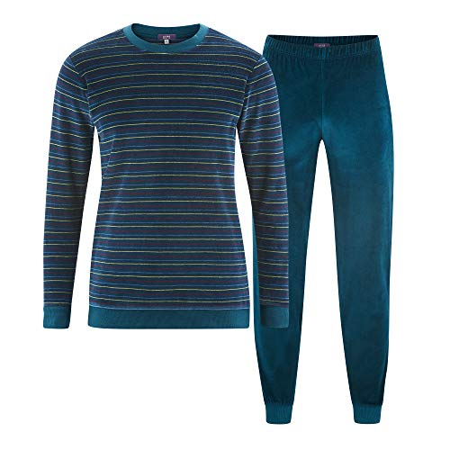Living Crafts Schlafanzug M, Petrol/Burgundy