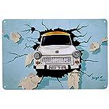 Blechschild Trabant   Metall, 20x30 cm   DDR Nostalgie   Wand Dekoration   Retro Vintage Schild   Geschenk & Souvenir
