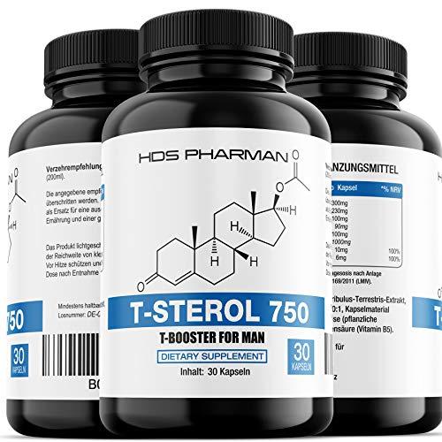 T-Sterol 750 – Testo-Booster Komplex/Testosteron Tabletten – Hochdosiert – Muskelaufbau Kapseln Germany