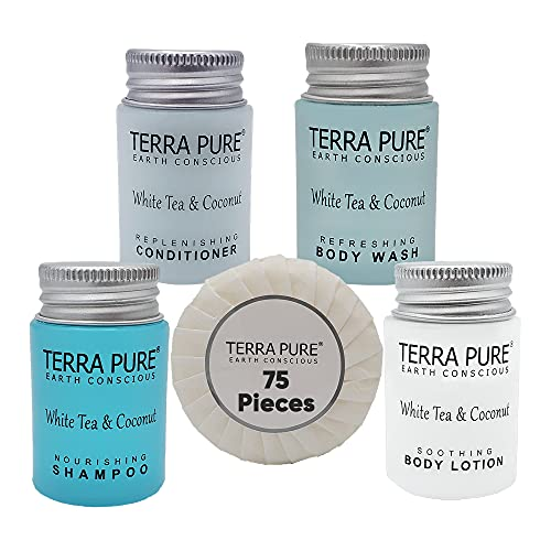 Terra Pure White Tea & Coconut Hotel Size Toiletries Set