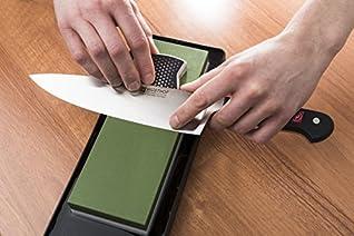 Wüsthof 4349 Schleifhilfe Slider, Winkelhilfe zum Schärfen von Küchenmessern auf dem Abziehstein, einfache Handhabung, Edelstahl