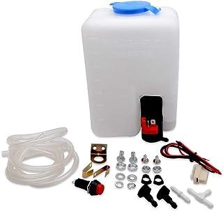 Kit de botella universal para limpiaparabrisas con manguera de bomba, interruptor de cableado para coche