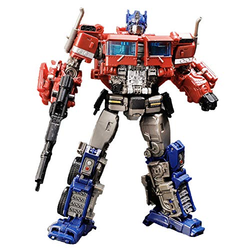 YUIOP Transformers Coche Juguete Robot Car, Transformación de Regalos La Figura de Acción de Deformación Optimus Prime 18cm