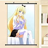 JIAJIAFU Kishuku Gakkou No Juliet Sexy Dibujos Animados Anime Cartel Rollo De Pared Lienzo Pintura Decorativa 40 X 60 CM A