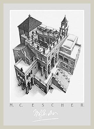 Germanposters M.C. Escher - Póster de escaleras (marco de aluminio), color grafito