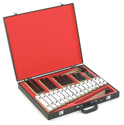 Percussion Plus klankstaven in kofferset met 25 stuks