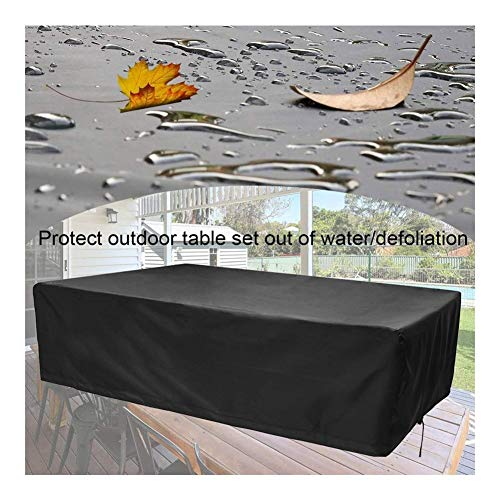 NINGWXQ Covers for Garden Furniture Outdoor Sofa Covers Waterproof Oxford doek gebruikt for rechthoekige tafels en stoelen, Zwart, 29 Maten (Color : Black, Size : 240×140 ×90cm)
