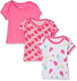 Care Bane, T-Shirt Bébé Fille, Lot de 3, Multicolore (Camellia Rose), 92