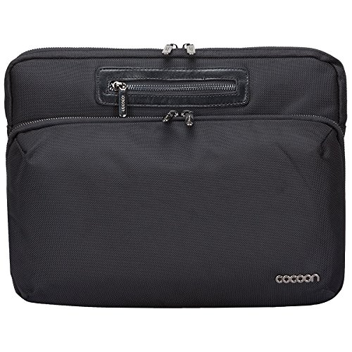 """Cocoon MCS2305BK Buena Vista 13"""" Laptop Sleeve with Built-in Grid-IT! Accessory Organizer (Black)"""