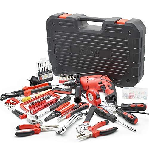 UANDM 400 Watt hamer boormachine handgereedschap set combo kit met beugelzaag tang klauw-hamer sleutelbox, inbussleutel, schroevendraaier