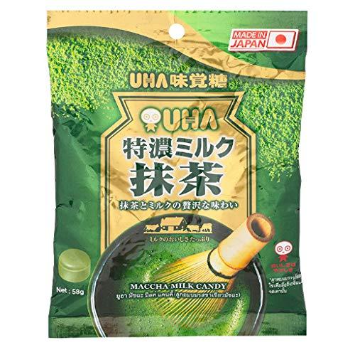 2 Packs Uha Maccha Milk Candy Flavored Candy Matcha Green Tea. Production From Japan, 58 g.