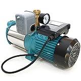 Kreiselpumpe Jetpumpe Gartenpumpe 1300 Watt 5,5 bar 6000 l/h mit Druckschalter