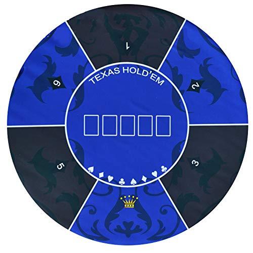 Texas Hold'em Tischfilz-Layout-Matte, 1,2 M Runde Klappbare Esstische