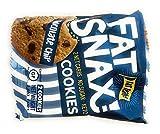 Fat Snax Cookies - Snack Foods Keto-friendly e senza glutine - basso contenuto di carboidrati, Keto, e senza zucchero (Goccia di cioccolato, 6-pack (12 biscotti))