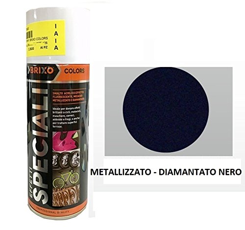 BOMBOLETTA SMALTO VERNICE SPRAY ACRILICA ML. 400 NERO METALLIZZATO DIAMANTATO B 160