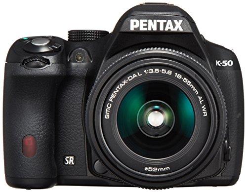 Digitale Spiegelreflexkamera Pentax K-50 inkl. DAL 18-55 WR 16 Mio. Pixel Schwarz Full HD Video, Spritzwassergeschützt,
