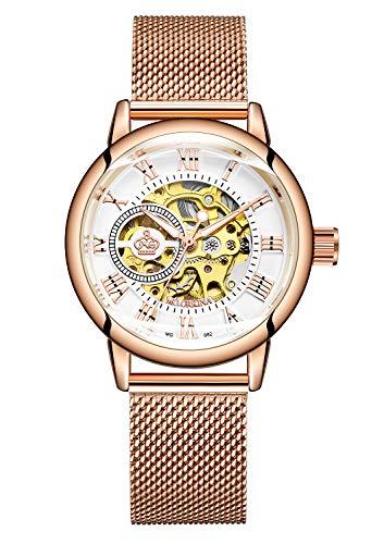 Carrie Hughes MG82 - Reloj mecánico automático de Acero Inoxidable para Mujer