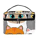 DJNGN Bolso cosmético Multifuncional de la Bolsa del Caso del Bolso del Maquillaje, Catwoman