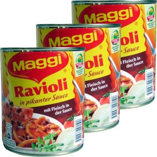 Maggi Ravioli in pikanter Sauce (3x 800g Dose)