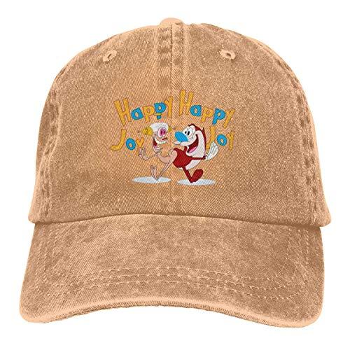 NOBRAND Transpirable Ocio Sombrero,Cómoda Sombrero De Deporte,Secado Rápido Dad Hat,Gorras De Béisbol Ajustables De Los Hombres O De Las Mujeres De REN and Stimpy Denim Jeans