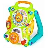 SONG Andador Multifuncional para Bebés con Tablero de Escritura y Tablero de Dibujo, Velocidad Ajustable, Juguete Infantil Antivuelco Activety Walker Push