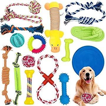 [Mehrere Formen, Farben und Größen]: Unser Set enthält 15 Arten von Spielzeug. Verschiedene Farben und Formen sind für Haustiere attraktiver. Das 15-teilige Set ist unterschiedlich groß und eignet sich daher sehr gut für Haustiere unterschiedlicher G...