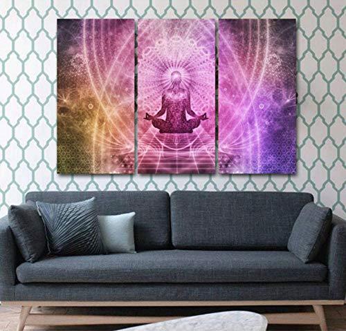 FYBSNDY 3 Stück Kunstdruck Chakra Leinwand Ölgemälde Tuch Dekoration Wandkunst Ölgemälde Bild 35 cm X 50 cm Kein Rahmen