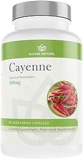 Cayenne Pepper Extract Supplement, Standardized to 0.45 Percent Capsaicin, 70,000 Scoville Heat Units, 90 Capsules, Manufa...