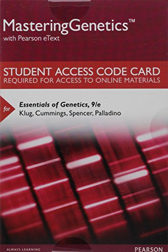 Mastering Genetics with Pearson eText -- Standalone Access Card -- for Essentials of Genetics (9th Edition)