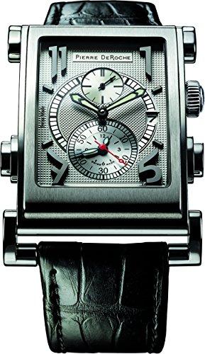 Pierre De Roche Splitrock SPR30001ACI0-004CRO - Reloj para hombre con números grandes
