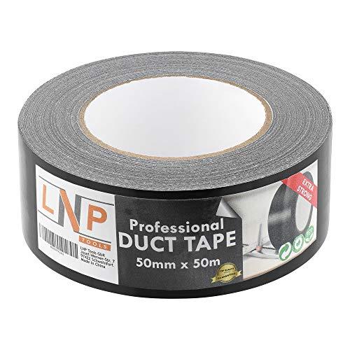 LNP Tools Profi-Gewebeband (Extra Stark) 50m x 50mm - 1er Pack für alle Reparaturarbeiten