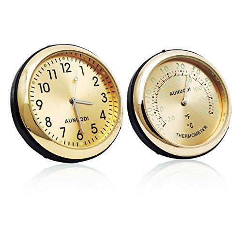Thermomètre de voiture – Maso Portable de voiture 4 x 4 A/C Vent Clip Système de 12 heures Horloge Thermomètre Parfum de stockage