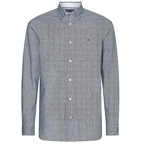 Tommy Hilfiger Herren Leinenhemd Slim CO/LI FIL A FIL Shirt Desert Sky dunkelblau - XL