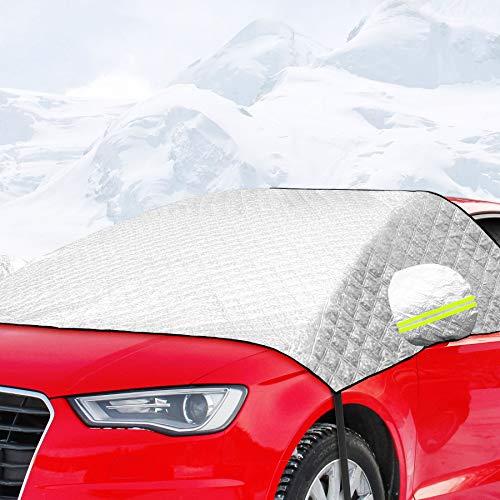 ACGAM Frontscheibenabdeckung, Auto Scheibenabdeckung Autoabdeckung Eisschutzfolie, Autozubehör Winterschutz Faltbare Abnehmbare Windschutzscheiben für gegen Schnee, EIS, Frost, Staub, Sonne