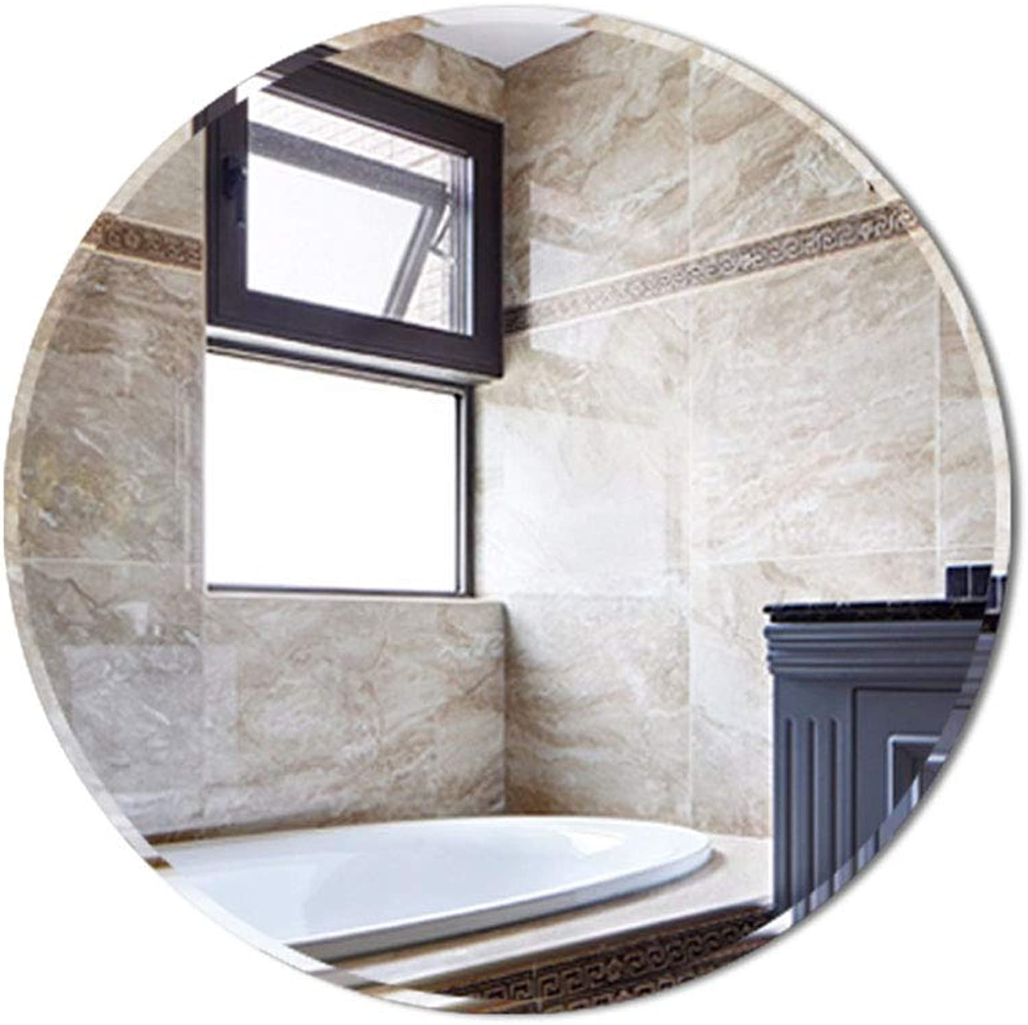 Ound bathroom mirror, Wall-Mounted Frameless, Beauty Mirror, Bedroom Hotel, Waterproof and Explosion-Proof, Thickness 5m