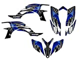 Yamaha YFZ450 Graphics Decal Kit 2003-2008 by Allmotorgraphics NO4444 Blue