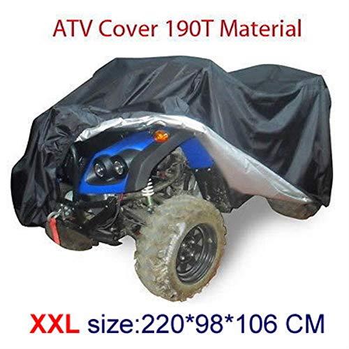 Huien Universele maat Quad ATV-hoes Onderdelen Voertuig Tractor Motorfiets Autohoezen Waterdicht Bestand Stofdicht, XXL