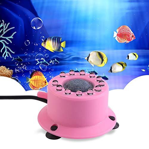 JLCN Acquario Luce Mini Fish Tank Light Lampada a Bolle Colorate LED Luce Subacquea sommergibile con 12 LED Barriera d'Aria Bolle Pietra Fish Tank Lighting