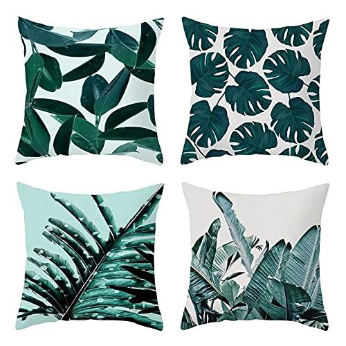 Agoble Pillow, Fundas De Cojines Poliéster 4 50X50cm Funda Cojin Azul Verde Sale De