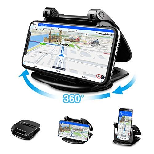 Cinati Handyhalter fürs Auto, 360° Sockel-drehbar Auto Armaturenbrett Universal rutschfest Silikon Basis Handyhalter, für iPhone Handy、Samsung Handy、Huawei Handy und alle 3.5-6.5 Zoll Smartphones