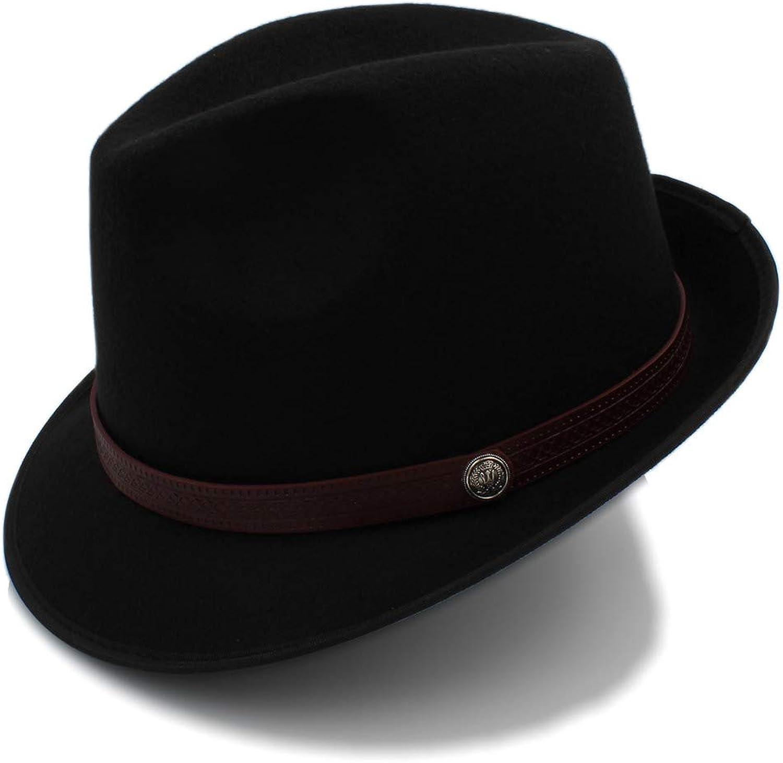 Fashion Exquisite charm 2018 New Winter Fedora Hat Men Women Wool Felt Jazz Hat Vintage Panama Cap Creative
