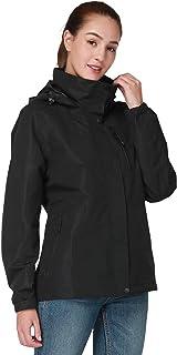 CAMEL CROWN chaqueta impermeable para exteriores para mujer, chaqueta cortavientos, impermeable para senderismo