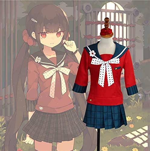 DONGYAO Disfraz de cosplay Danganronpa V3 Killing Harmony Harukawa Maki Uniforme Escolar Cosplay Accesorios (Color: Natural, Talla: S)