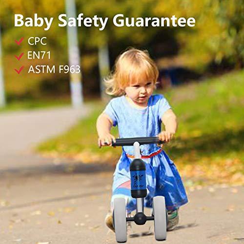 XIAPIA Vélo Bébé sans Pédales Draisienne 10-24 Mois Baby Walker Jouets pour 1 an Bébé Jouet Petit Premier Cadeau Anniversaire Garçon/Fille (Canard Rose)