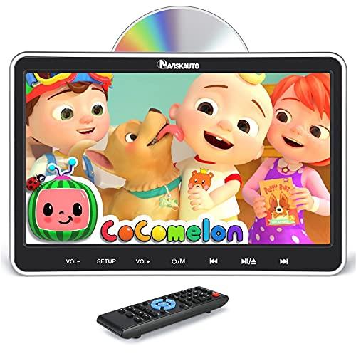 10,1' DVD Portátil Coche, con Soporte de Reposacabezas, Soporta HDMI/USB/SD/ MP4/ MKV/AVI, Diseño de Unidad Óptica de Succión Superior, NAVISKAUTO