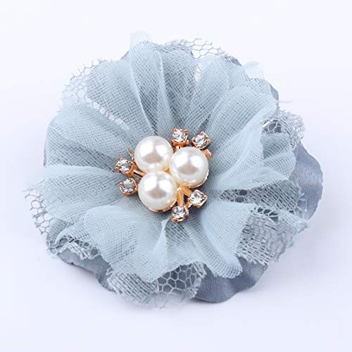 WEVB NUEVO 5 unids/lote Encaje remiendo apliques de tela de encaje vestido de novia DIY flores novia velo ropa decoración de sombreros (4)