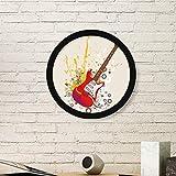 DIYthinker Musique Jazz Guitare électrique Culture Ronde Image Reproductions Frame Peintures Accueil Stickers muraux Cadeaux Small Noir