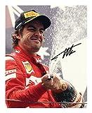 Fernando Alonso Autogramme Signiert 21cm x 29.7cm Foto