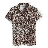 ZODOF Camiseta Camisa Hombres Manga Corta Estampado Tallas Grandes Top Ropa Casual Moda Confort Primavera Verano